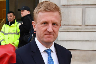 Culture Secretary Oliver Dowden leaves the Cabinet Office.