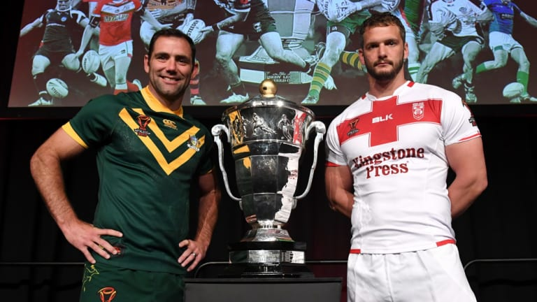 No funny business: The Rugby League World Cup trophy has been fitted with GPS.