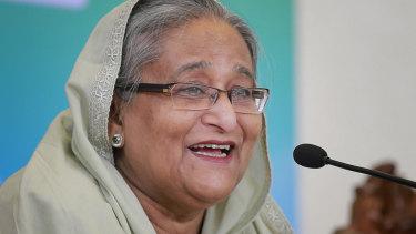 Set for victory: Bangladesh's Prime Minister Sheikh Hasina.