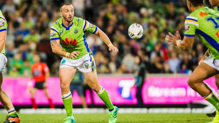 Canberra Raiders hooker Josh Hodgson is set to start his first game of the year.