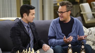 Matthew Perry, with Thomas Lennon, in The Odd Couple.