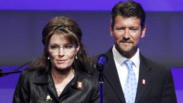 Then Republican Alaska governor Sarah Palin and her husband Todd Palin in 2009.