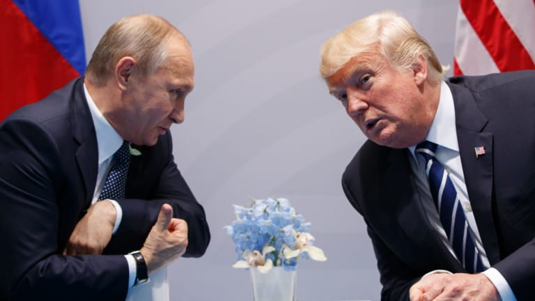 US President Donald Trump and Russian President Vladimir Putin are expected to meet in Paris this weekend.