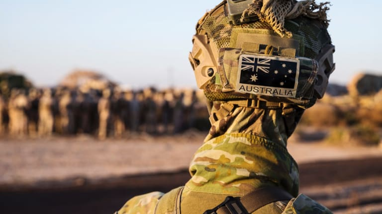 An Australian Army soldier.