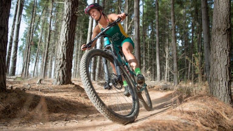 Australian cross triathlon athlete Penny Slater. Photo Jay Cronan