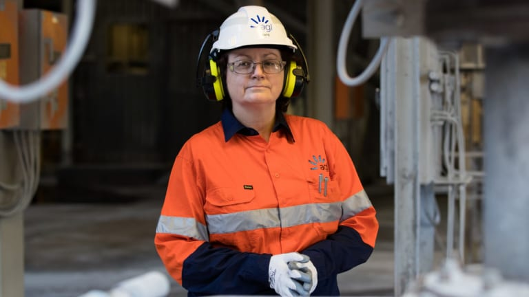 Kate Coates, general manager of AGL's Liddell power station in the Hunter Valley.