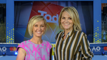 Today hosts Deb Knight and Georgie Gardner at Melbourne Park.