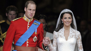 Prince William and the Duchess of Cambridge on their wedding day.