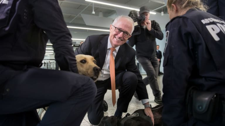 "Prime Minister Malcolm Turnbull's ""dangerous times"" moment."