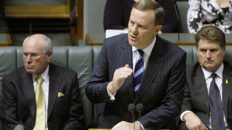 Then treasurer Peter Costello delivers his 12th federal budget in 2007.