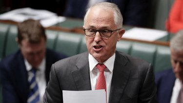 Back to brokering a corporate deal: Prime Minister Malcolm Turnbull.