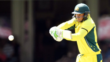 Long time between drinks: Usman Khawaja bats during his last stint in the AUstralian 50-over side.