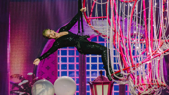 Pink sings and soars above as Brisbane crowd holds its breath