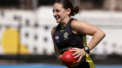 Why Tigers' star Monique Conti was 'nervous' heading into AFLW pre-season