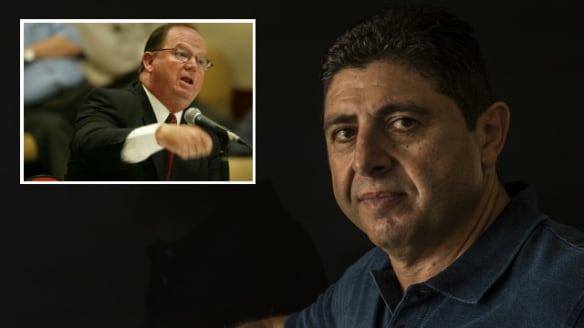 Dog fight: Security separate Dib and McIntyre as tensions boil over