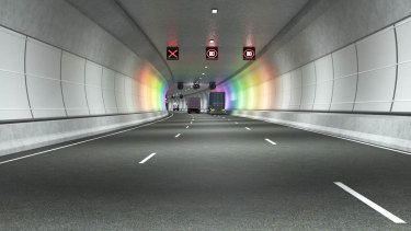 An artist's impression of the West Gate Tunnel project.