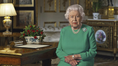 The Queen delivers the rare address from Windsor Castle.