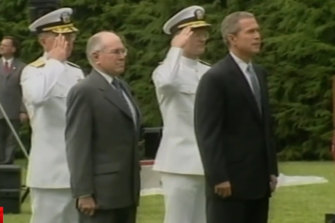 Former Australian prime minister John Howard was in the United States celebrating 50 years of the alliance with former US president George Bush during the September 11 attacks.