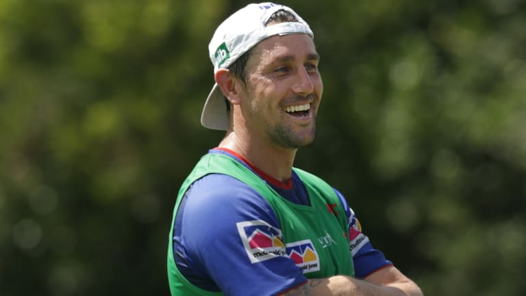 'We don't have the right to be talking at their level yet as far as delivering because we haven't yet. We haven't proven anything': Mitchell Pearce.