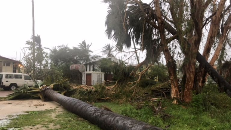 Cyclone Nora felled trees and powerlines inPormpuraaw.