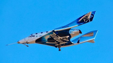 Up, up and away: Virgin Galactic plans to start space tourism flights later this year.