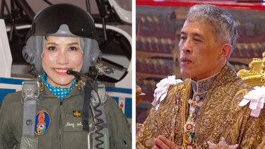 Sineenatra Wongvajirabhakdi and Maha Vajiralongkorn.