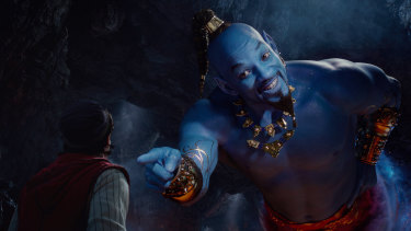 Will Smith plays the Genie in the live-action adaptation of the 1992 animated classic Aladdin.