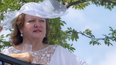 No heiress: Gina Rinehart has clearly eclipsed her father in business success.