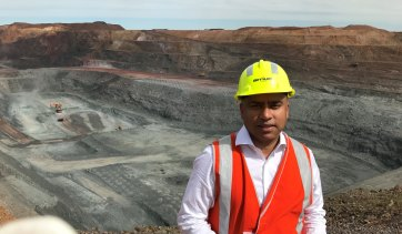 """Sanjeev Gupta said he would build """"one of the largest steel plants of the world"""" at Whyalla."""