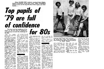'Top pupils of '79 are full of confidence for 80s': The interview with four top-20 students of 1979.