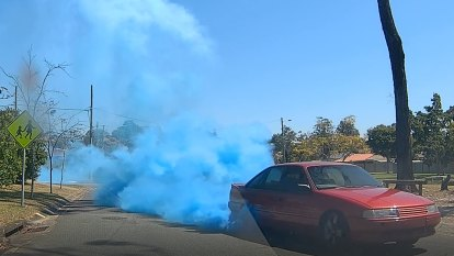 The baby burnout that Queensland police say went too far