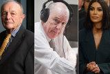 Gerry Harvey, Alan Jones and Kim Kardashian.