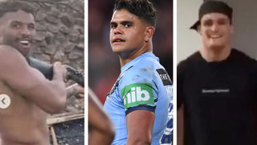 Josh Addo-Carr, Latrell Mitchell and Nathan Cleary found themselves in trouble during the COVID-19 lockdown.