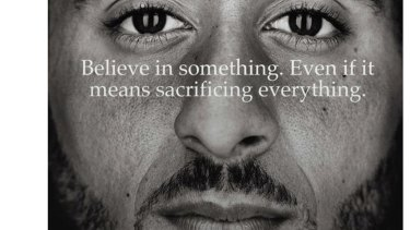 Former National Football League player Colin Kaepernick in a Nike advertisement.