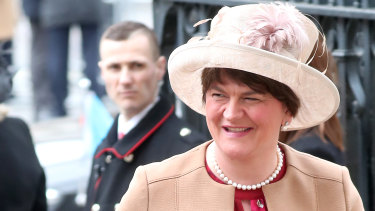 First Minister of Northern Ireland Arlene Foster attends the Commonwealth Day Service 2020 at Westminster Abbey on Monday.