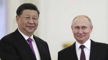 Xi Jinping with Vladimir Putin in Russia last year.