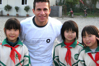 Macquarie Group executive Dan Phillips. He has been involved in a charity looking after Chinese orphans.