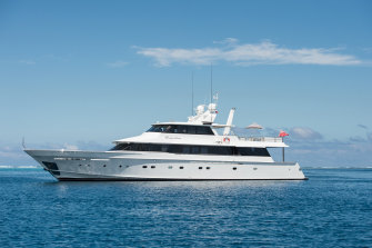 The Dreamtime superyacht at the centre of the border breach.