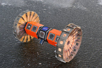 The version of the BRUIE rover that will be tested in Antarctica for a month.