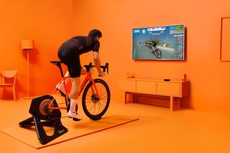 Zwift connects you with a virtual cycling community.