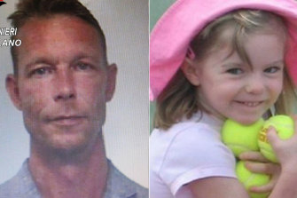 Christian Bruckner, left, is a suspect in the disappearance of Madeleine McCann, right.