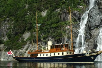 Billionaire Jim Clark and wife Kristy have a new boat, Atlantide.