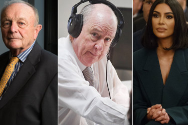 Gerry Harvey, Alan Jones and Kim Kardashian.