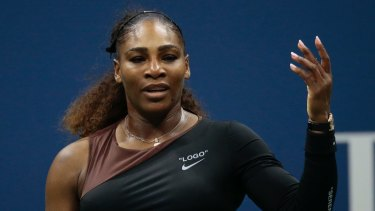 Serena Williams at the last US Open.