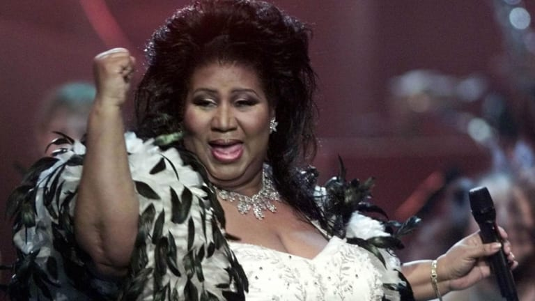 Aretha Franklin performs in New York in 2001.