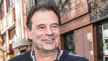 CFMMEU boss John Setka leaves the ACTU office after meeting with Sally McManus.