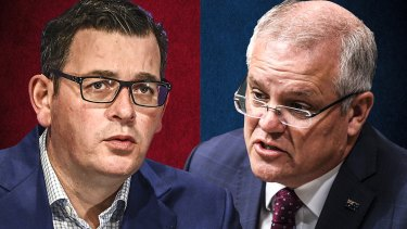 Dan Andrews and Scott Morrison are both desperate to find a way to drive down the number of coronavirus case numbers in Victoria.