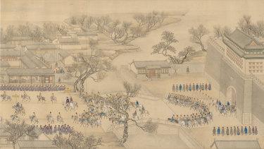 Emperor Qianlong's Southern Inspection Tour (detail) - Guangningmen.