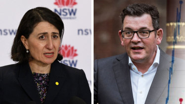 NSW Premier Gladys Berejiklian and Victorian Premier Daniel Andrews.
