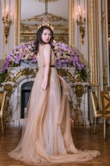 Huawei founder's daughter Annabel Yao at Le Bal des Débutantes in Paris.